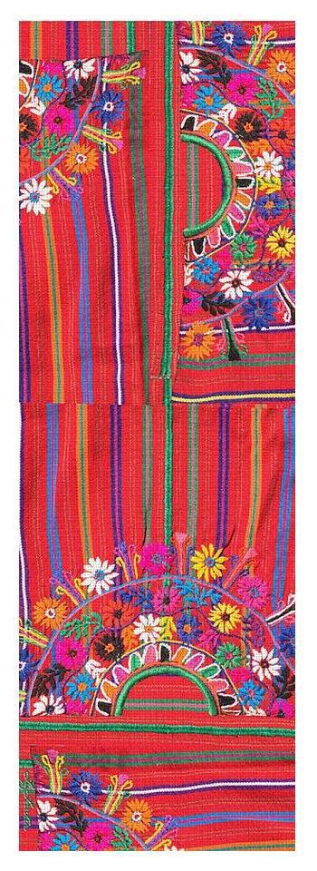 Red Mexico Embroidery - Yoga Mat - Liz Lauter Designs