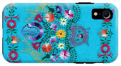 Turquoise Embroidery - Phone Case - Liz Lauter Designs