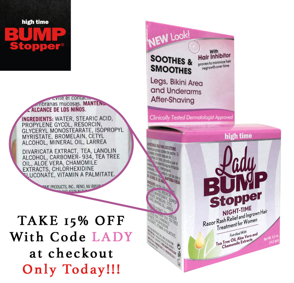 What's in it? What's it good for? Lady Bump Stopper Night-Time.