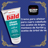 Dare To Be Bald Shave Cream with Argan Oil, Shea Butter and Tea Tree Oil