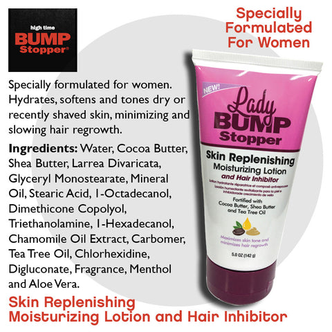 Skin Replenishing Moisturizing Lotion with Hair Inhibitor