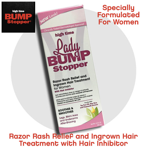 Razor Rash Relief and Ingrown Hair Treatment for Women with Hair Inhibitor