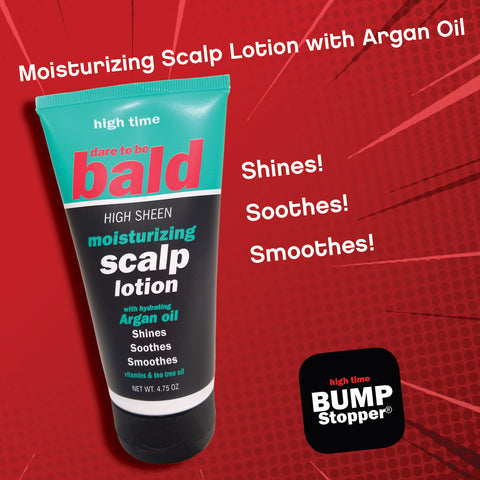 Dare to be Bald High Sheen Moisturizing Scalp Lotion.