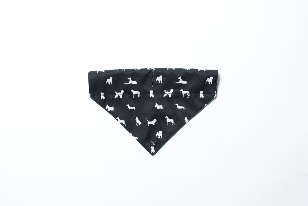 Dog Bandana - Designer Dog Print - Black