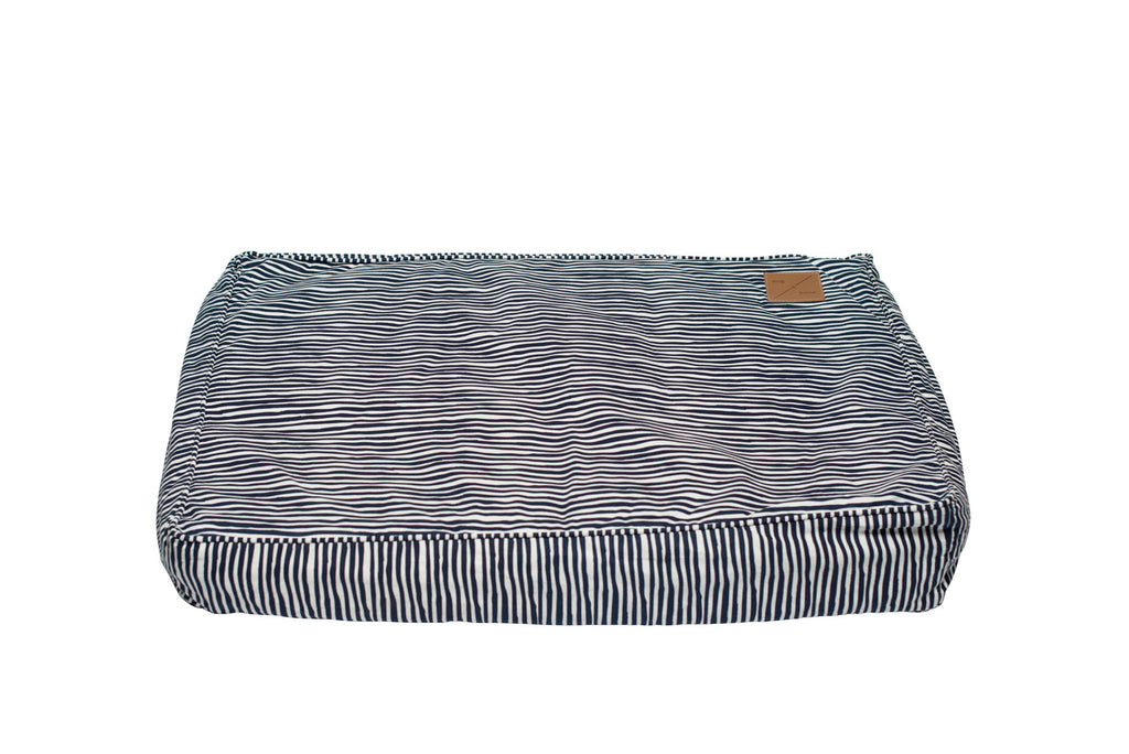 Classic Cushion Bed - Stripe Print - Navy