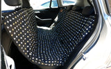 Car Seat Cover - Black Metallic Cross