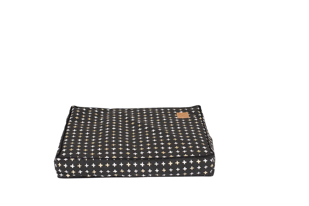 Classic Cushion Bed - Black Metallic Cross Print