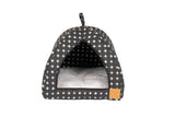 Cat Igloo - Black Metallic Cross Print