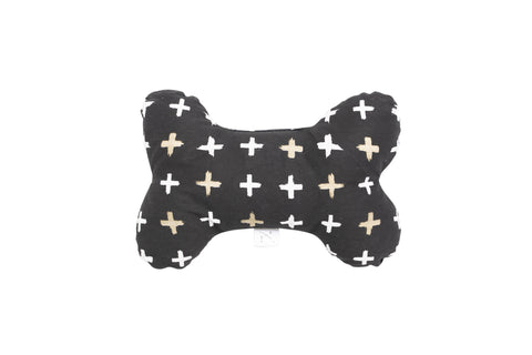 Printed Bone Soft Toy - Black Metallic Cross Print