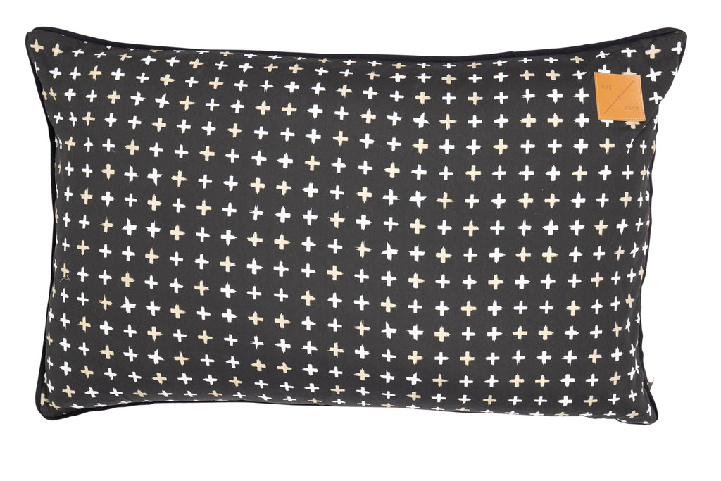Futon - Black Metallic Cross Print