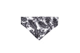 Dog Bandana - Black Tropical Leaves