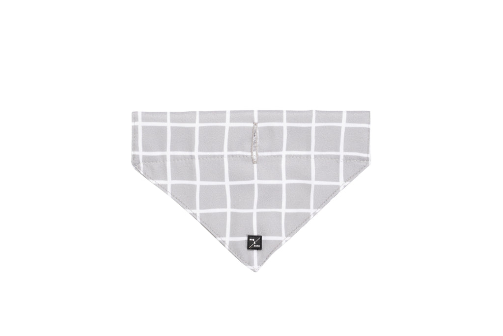 Dog Bandana - Grey Check Print