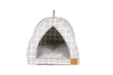 Cat Igloo - Grey Check Print