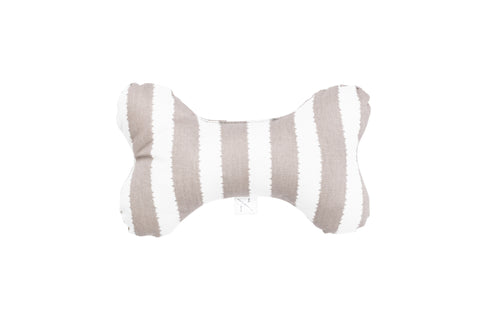 Printed Bone Soft Toy - Latte Hamptons Stripe Print
