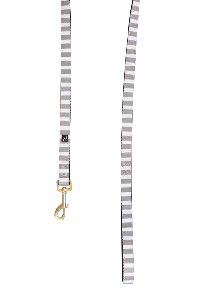 Neoprene Lead - Latte Hamptons Stripe Print
