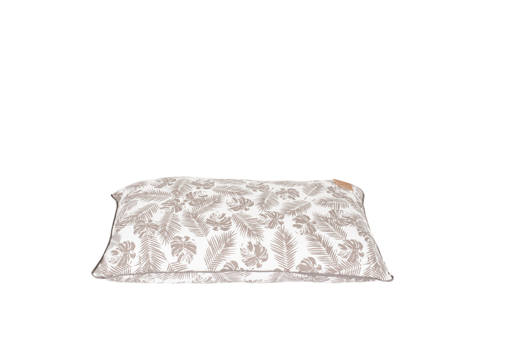 Futon - Mocca Tropical Leaves Print