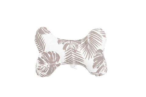 Printed Bone Soft Toy - Mocca Tropical Leaves Print