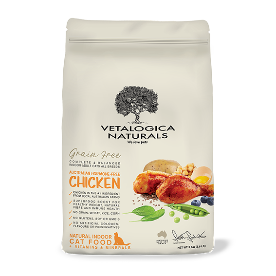 Vetalogica Naturals Grain Free Chicken Indoor Adult Cat Food - 3kg