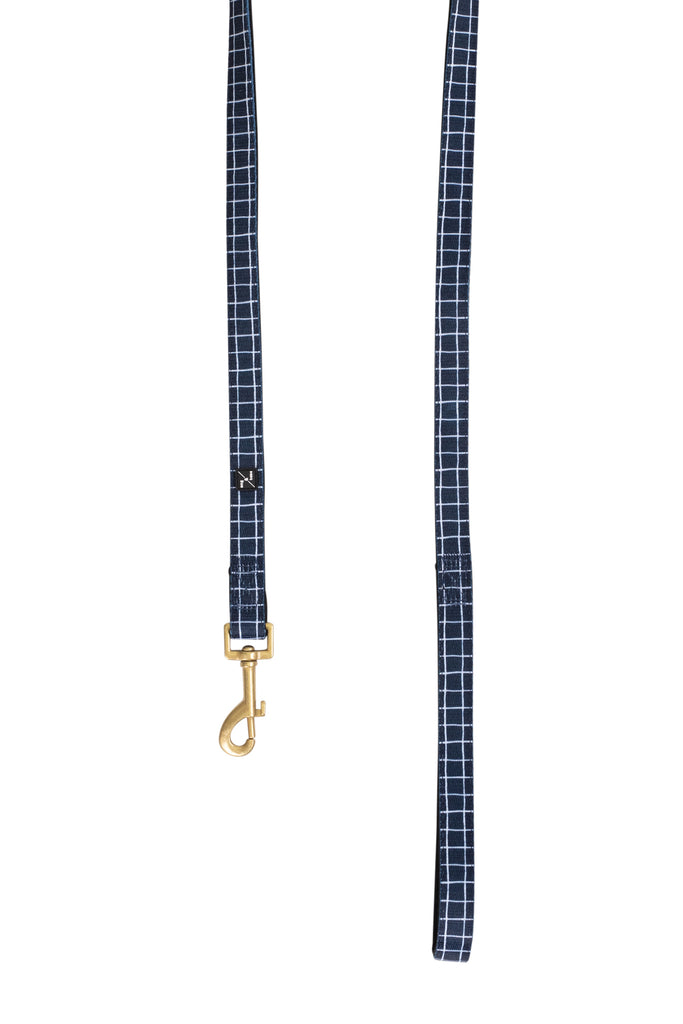 Neoprene Lead - Navy Check Print