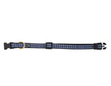 Neoprene Collar - Navy Check Print
