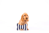 Printed Bone Soft Toy - Navy Hamptons Stripe Print