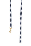 Neoprene Lead - Navy Hamptons Stripe Print