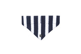 Dog Bandana - Navy Hamptons Stripe Print