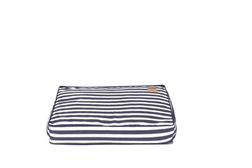 Classic Cushion Bed - Navy Hamptons Stripe Print