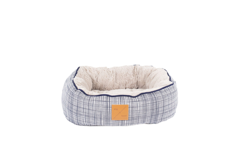 Reversible Cat Bed - Linen Check Print