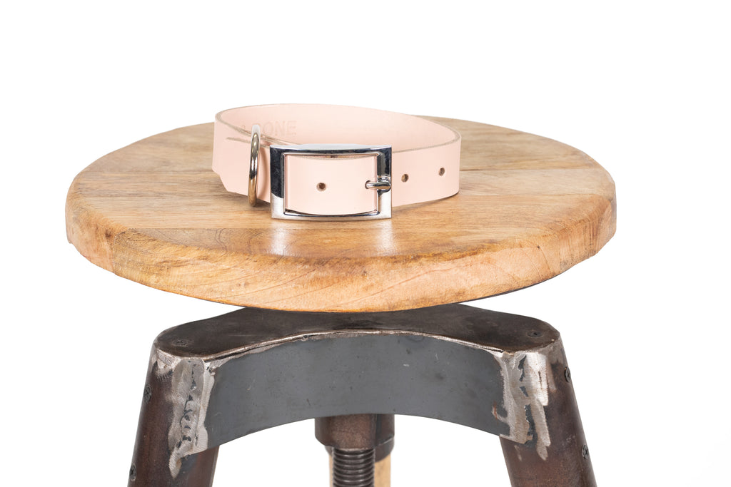 Genuine Leather Collar - Quartz