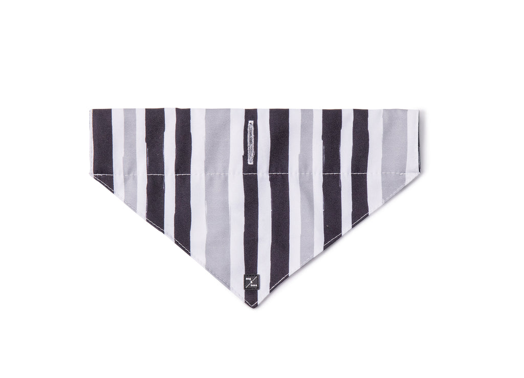 Dog Bandana - Pebble Black Brush Stroke Print