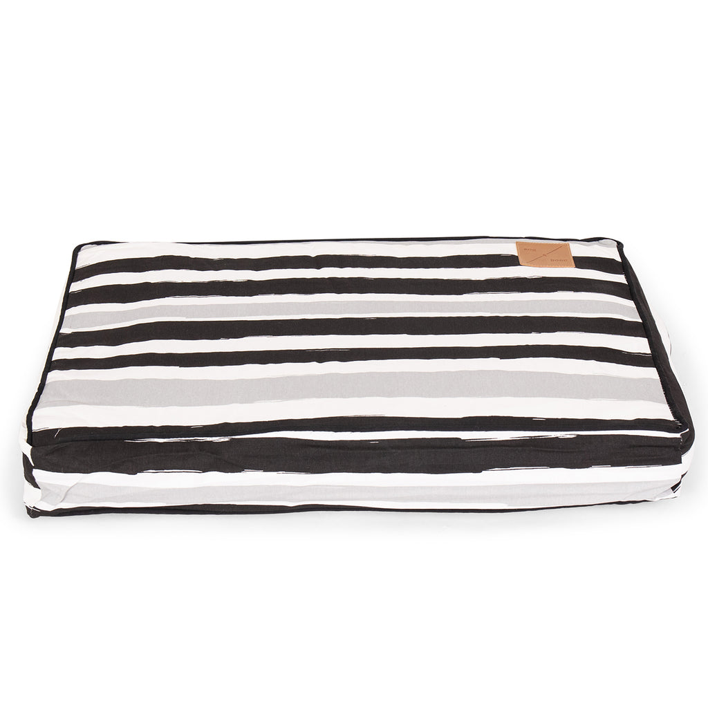 Classic Cushion Bed - Pebble Black Brush Stroke Print