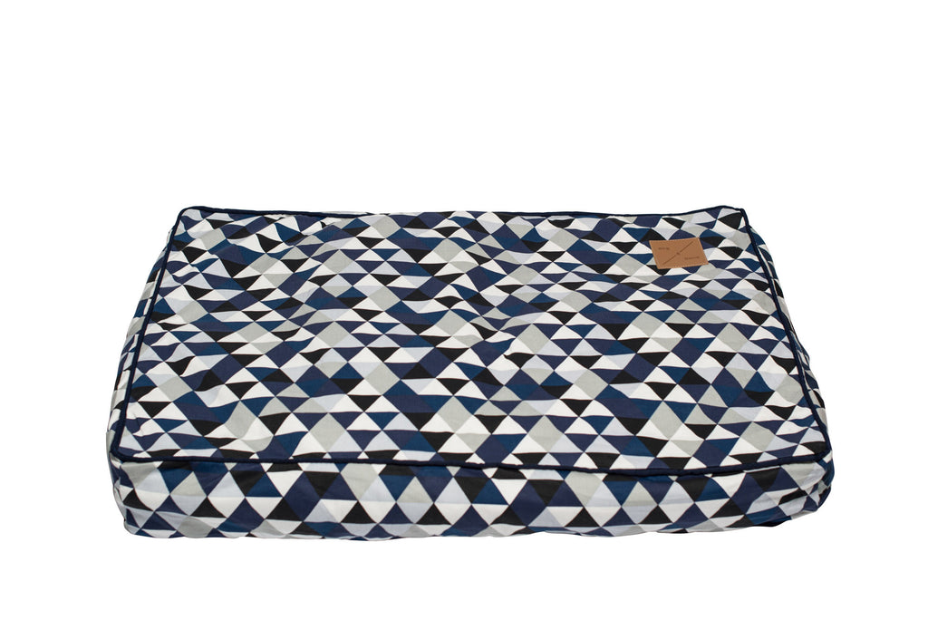Classic Cushion Bed - Diamond Print - Navy