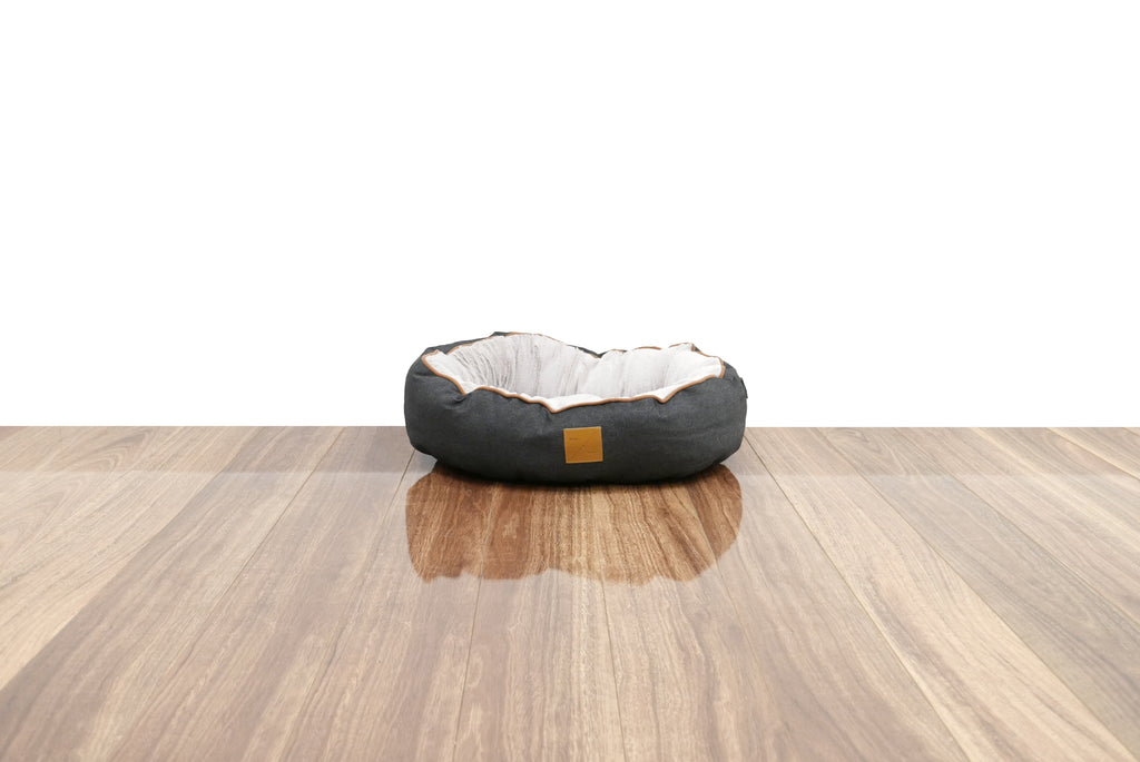 Reversible Cat Bed - Black Denim