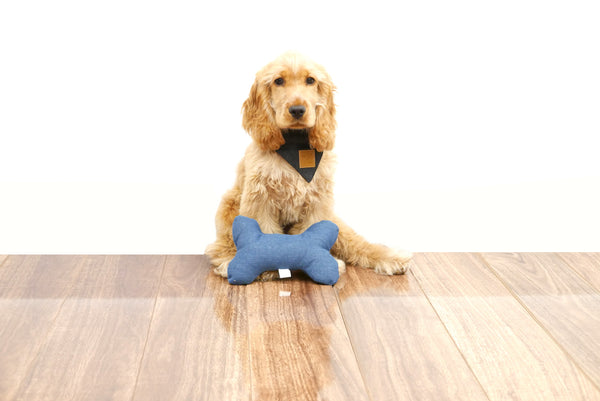 Bone Shaped Plush Toy - Blue Denim
