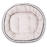 4 Seasons Reversible Circular Bed - Black White Mosaic Print