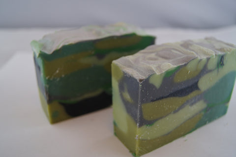 Bay Rum Camo Yogurt Soap