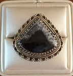 Dendrite Opal Sterling Silver Ring