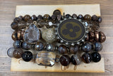 Upcycled Louis Vuitton Mixed Bead Stacking Bracelets