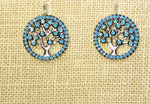 Tree of Life Turquoise Silver Earrings