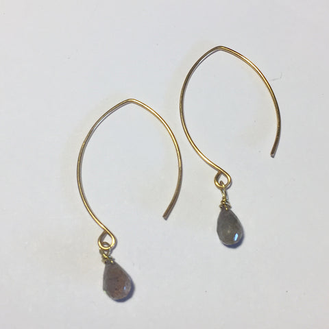 Wire Dew Drop Earrings