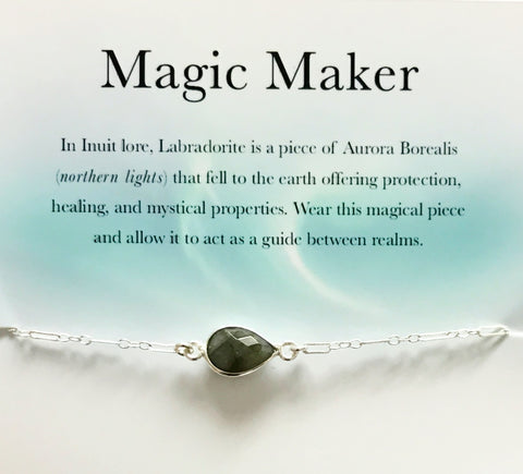 Magic Maker Labradorite Sterling Silver Bracelet Necklace