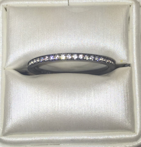 Eternity CZ 24K Black Gold Ring