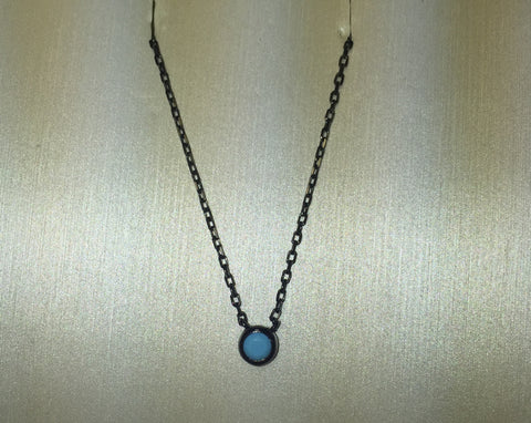 Glint 3MM Turquoise 24K Gold Necklace