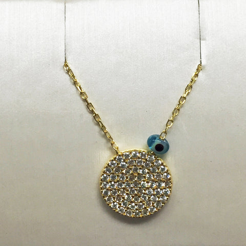 Sun CZ 24K Gold Necklace