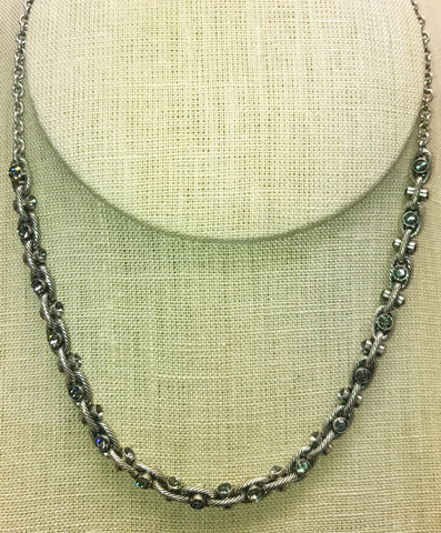 Swarovski Crystal Silver Necklace