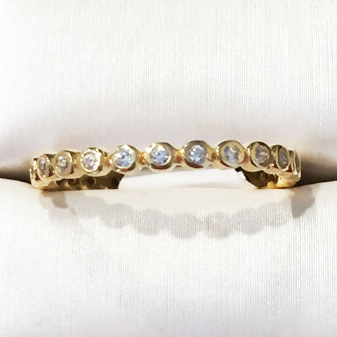 Eternity Mini CZ 24K Yellow Gold Ring