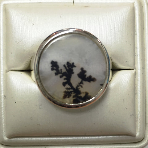 Dendrite Agate Silver Ring