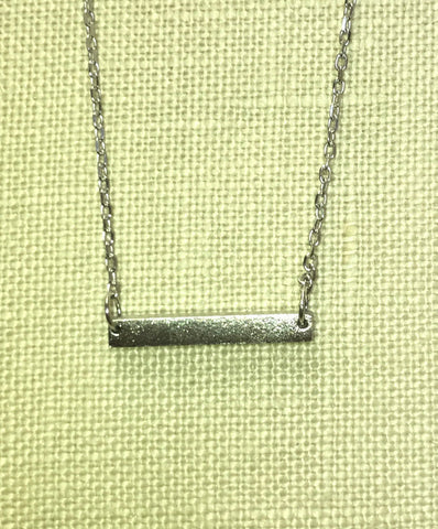 Bar Silver Necklace