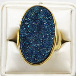 Druzy 18K Plated Gold Ring